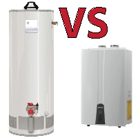 Compare an Electric Water Heater with a Tankless