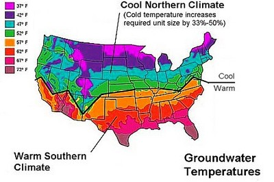 Ground Water Temperature Map