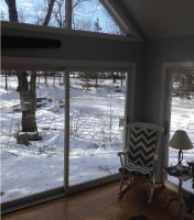 Heated floors in sunroom