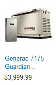 Whole home generator that can power your electric water heater as well as your entire home.