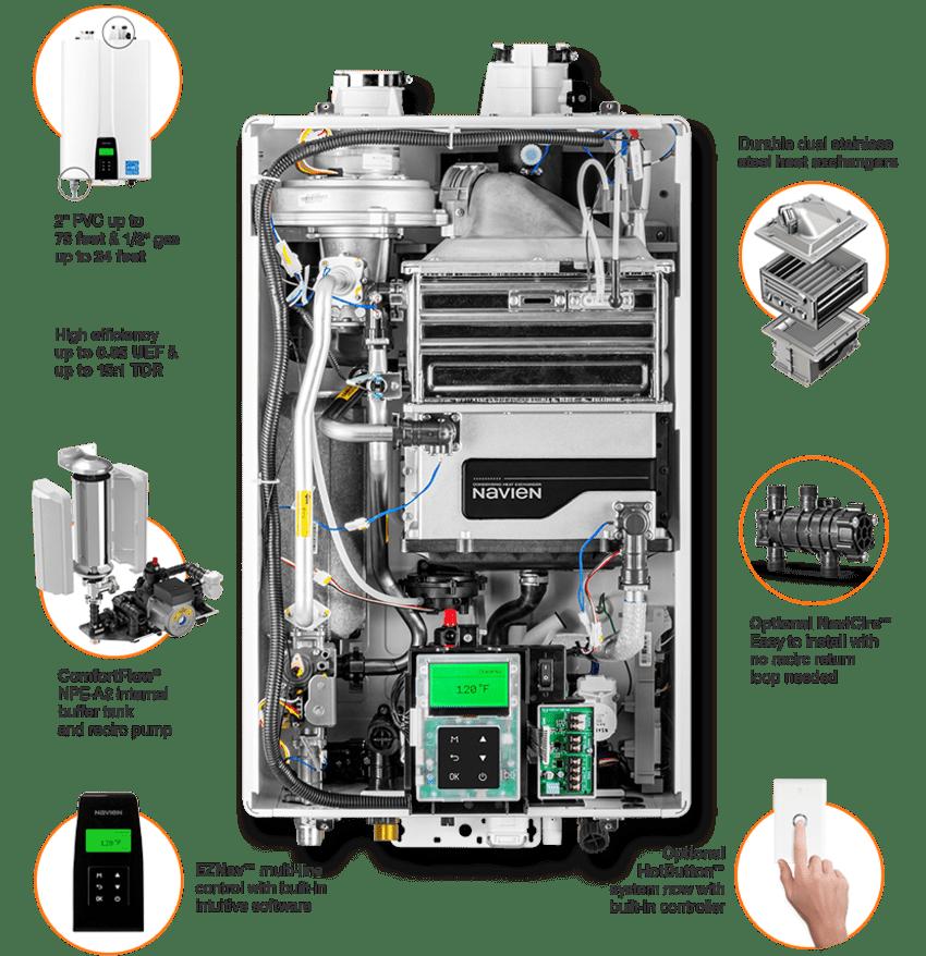 Navien NPE-210A2 tankless water heater