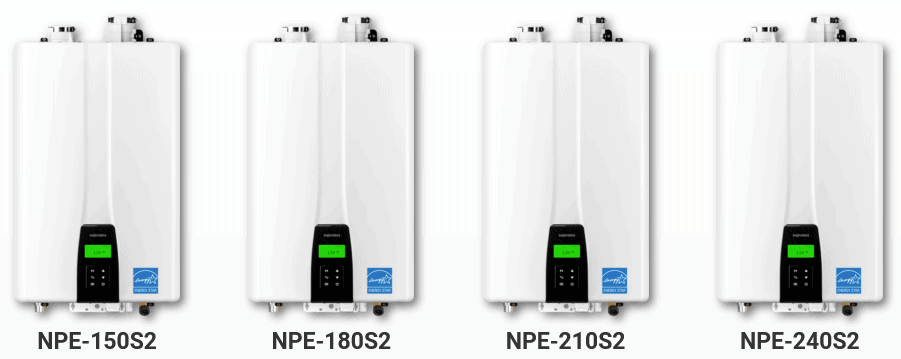 Navien NPE-S2 models NPE-150S2 NPE-180S2 NPE-210S2 NPE-240S2