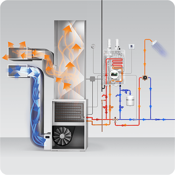 Navien NPE-A2 hydronic heating capabilities.
